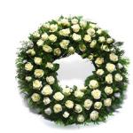 White roses Wreath