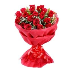 20 red rose bunch