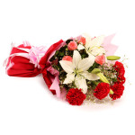 Lovely Blooming Bunch rose carnation lilly