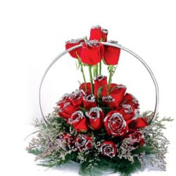 silver lining rose arrangement
