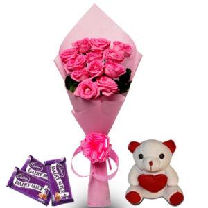 pink rose hamper