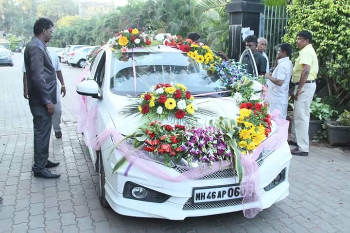 Wedding Car flower Decoration (7)