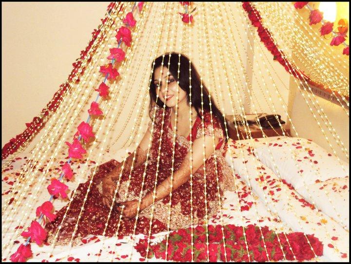 suhag rat bed room decoration
