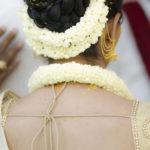 fresh jasmine gajra , roses gajra, blue orchid gajra, mogra tiara, orchid tiara, rose tiara, bridal floral jewellery for mehandi - flowernpetals