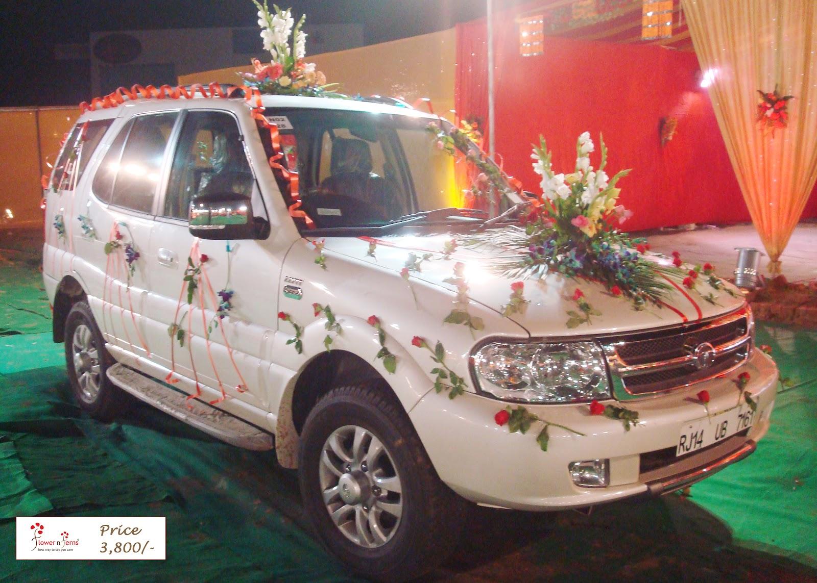 Wedding car decoration 41 flower n petals wedding car flower decoration junglespirit Choice Image