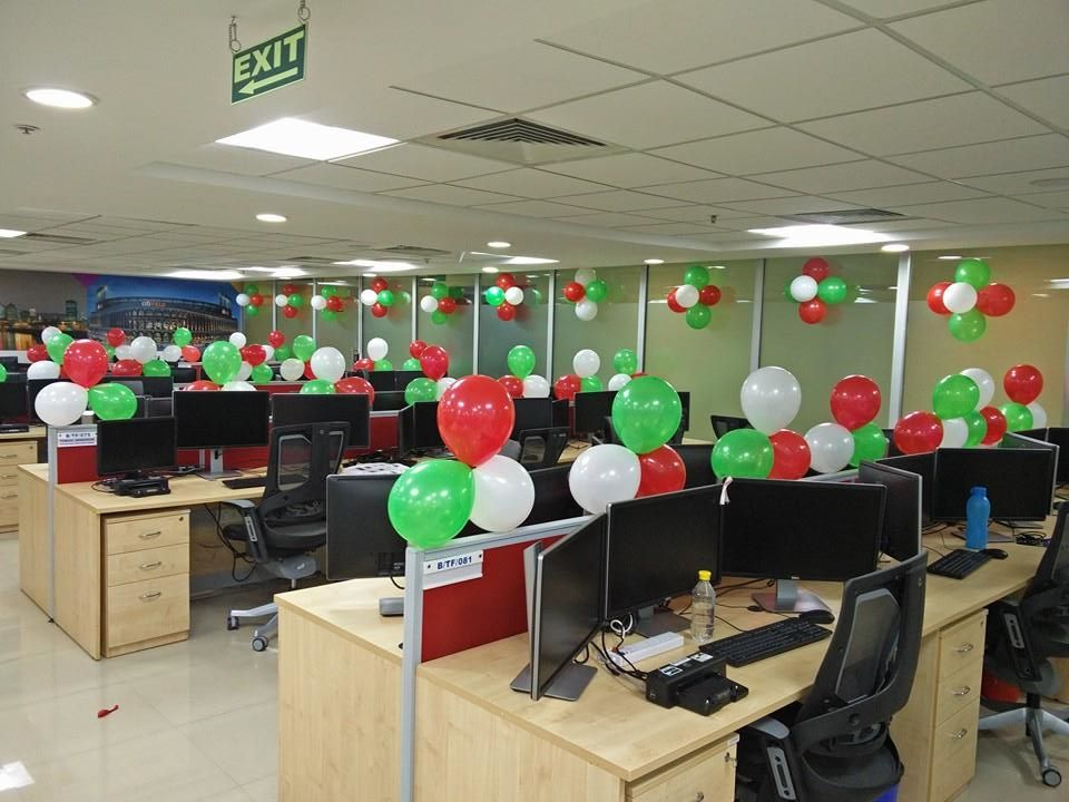 decoration of office.  Decoration 15augustballoondecorationinoffice On Decoration Of Office D