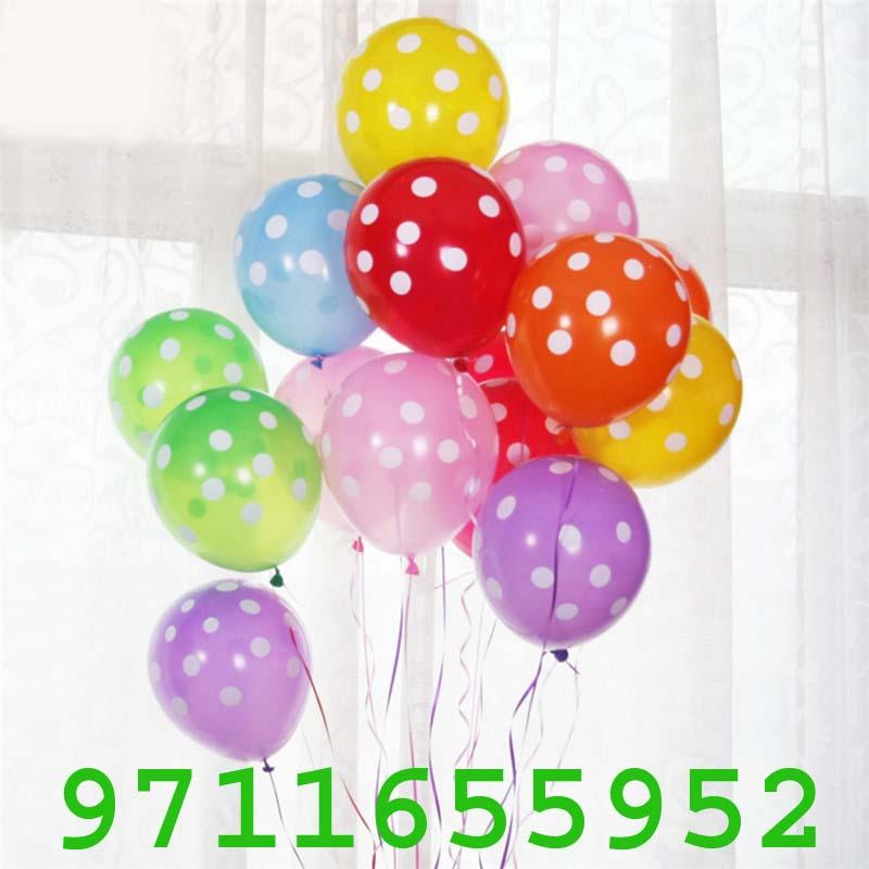 Latex-Balloons-Polka-Dot-Colored-Balloons-For-Wedding-Birthday-Party, polka dot balloon with ribbons fresh