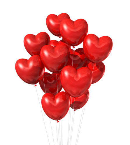 Red Heart Shape Balloon Decoration
