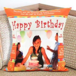 Personalized birthday Cushion 12x12 inches