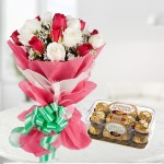 combo rose and chocolate