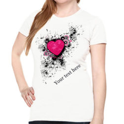Personalize Heart T Shirt For Her