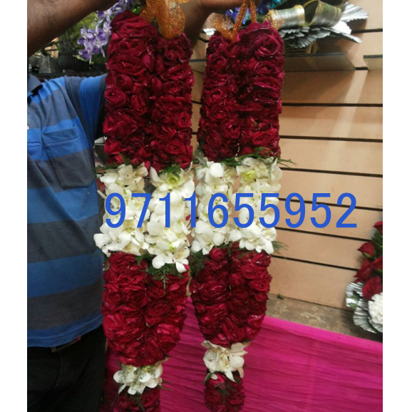 rose and orchid wedding garland jaimala varmala haar copy copy