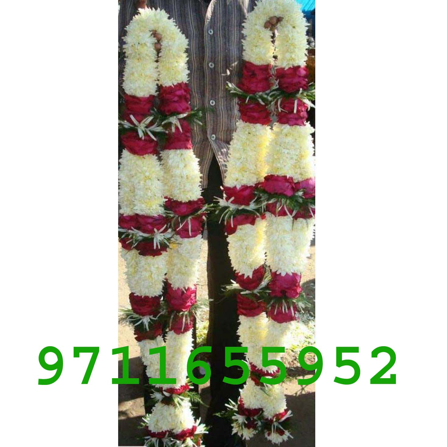 Simple red n white flower jaimala garland Varmala for Marriage, white and red roses jaimala for wedding or wedding anniversary