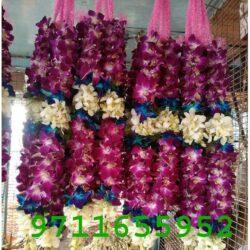 purple orchid jaimala varmala haar forwedding orchid jaimala , blue and purple orchid varmala jaimala garland haar orchid mala for marriage jaimala