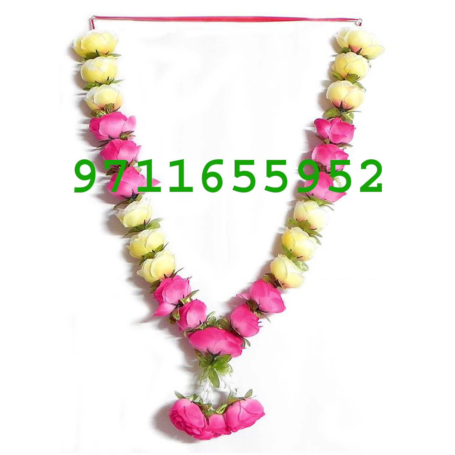 wedding garland colourful roses jaimala varmala haar, white and pink roses jaimala , pink roses haar varmala for marriage