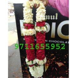 Red And White flower Jaimala Garland