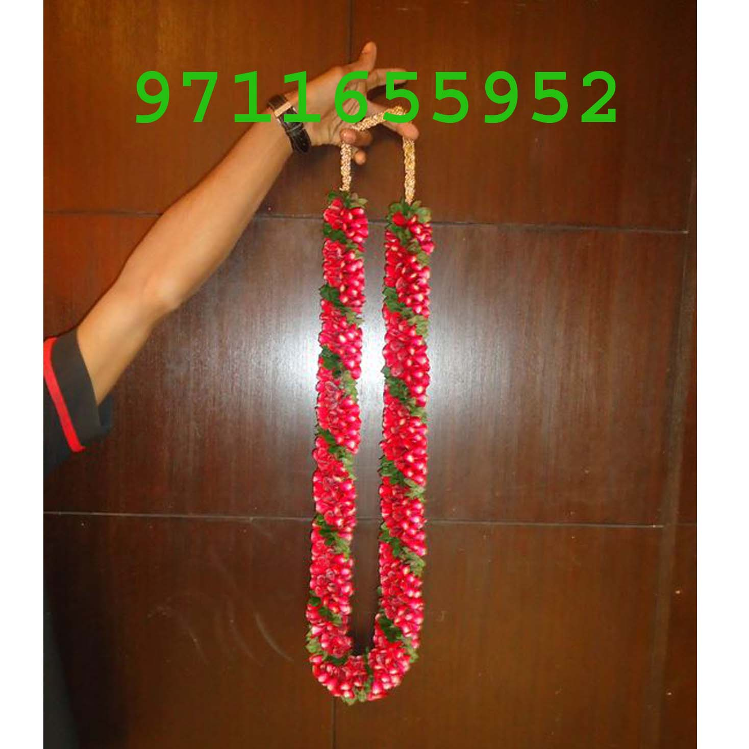 Red Rose Jaimala Varmala Haar Wedding Rose Petals Garland
