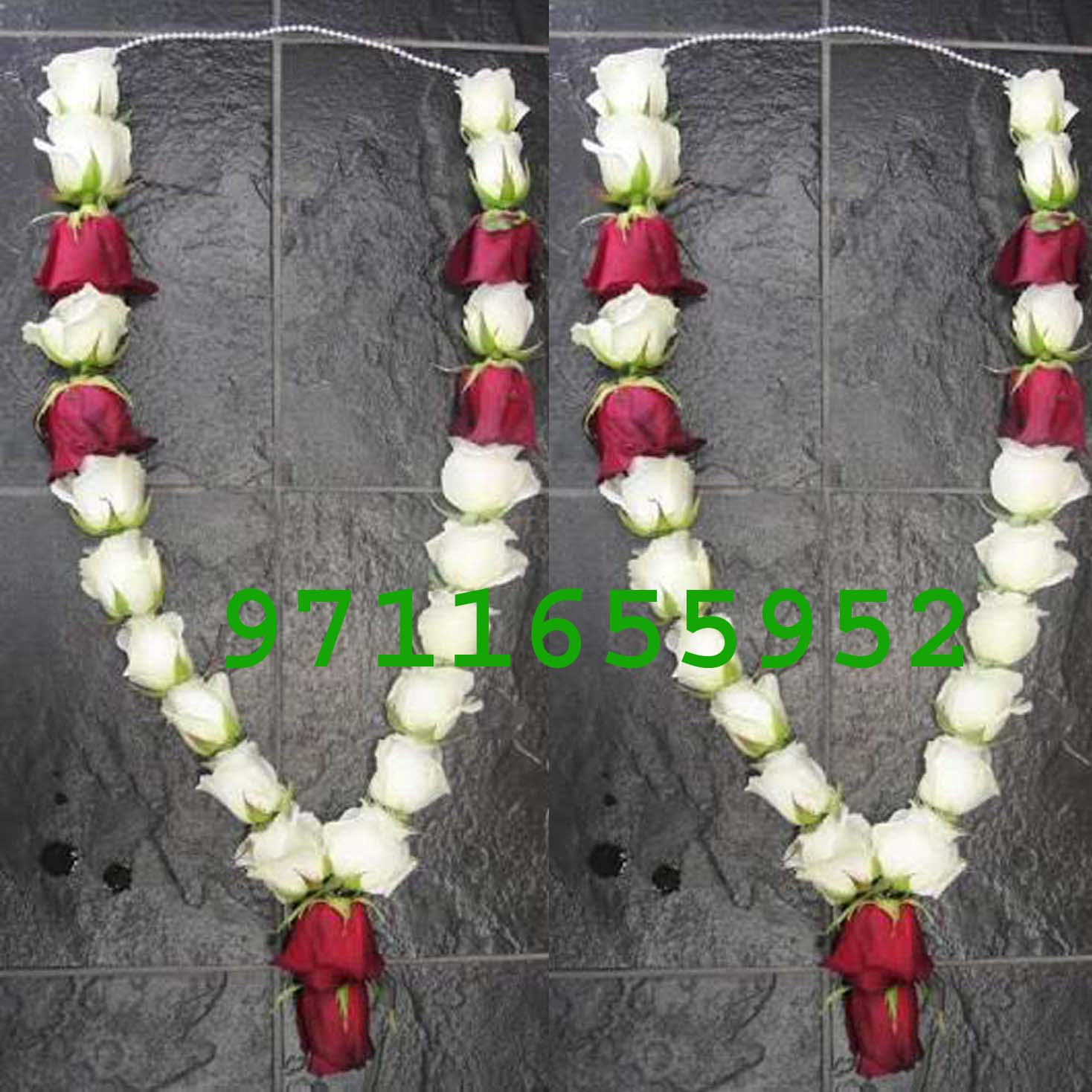 , wedding red and white jaimala haar for anniversary, jaimla price online, buy red roes jaimala online