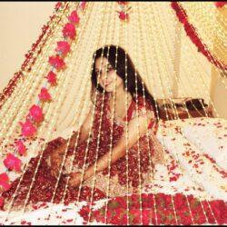 bridal bed room decoration, Romantic 1st Night Decoration